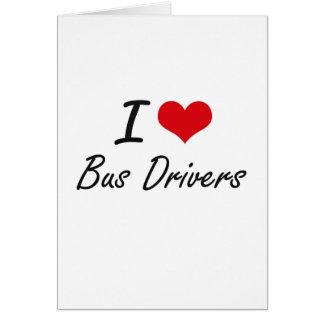 Eu amo o design artístico dos condutores de cartão comemorativo