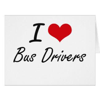Eu amo o design artístico dos condutores de cartão comemorativo grande