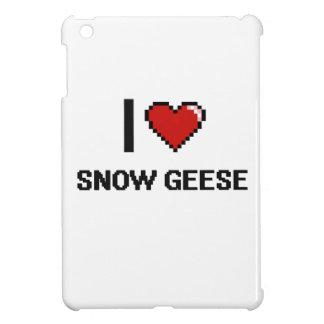 Eu amo o design de Digitas dos gansos de neve Capas Para iPad Mini