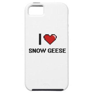 Eu amo o design de Digitas dos gansos de neve Capas Para iPhone 5
