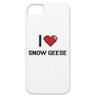 Eu amo o design de Digitas dos gansos de neve Capa Para iPhone 5