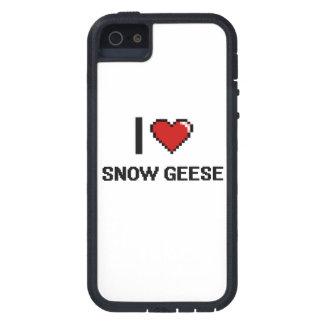 Eu amo o design de Digitas dos gansos de neve Capa Tough Xtreme Para iPhone 5