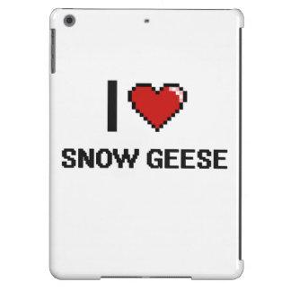 Eu amo o design de Digitas dos gansos de neve Capa Para iPad Air