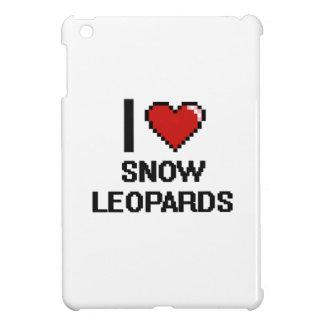 Eu amo o design de Digitas dos leopardos de neve Capa Para iPad Mini