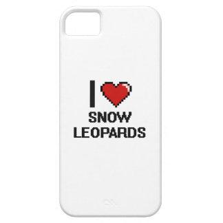 Eu amo o design de Digitas dos leopardos de neve Capa Barely There Para iPhone 5