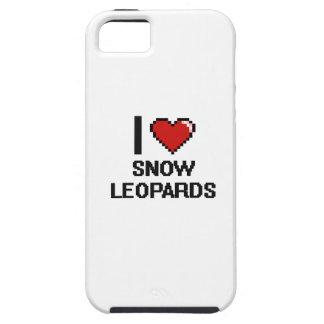 Eu amo o design de Digitas dos leopardos de neve Capas Para iPhone 5