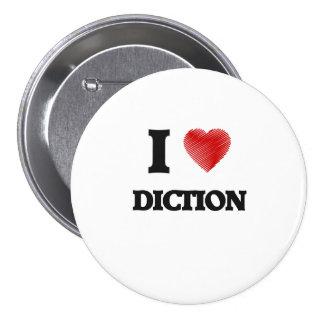 Eu amo o Diction Bóton Redondo 7.62cm