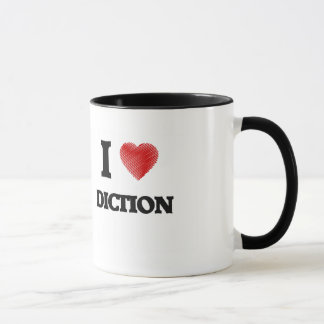 Eu amo o Diction Caneca