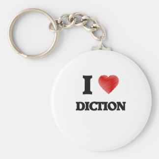 Eu amo o Diction Chaveiro