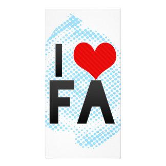 Eu amo o FA Cartão Com Fotos Personalizado