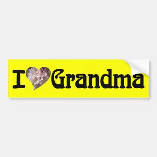 Eu amo o gráfico da flor do coração da avó adesivo para carro
