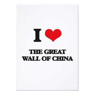 Eu amo o Grande Muralha de China Convite 12.7 X 17.78cm