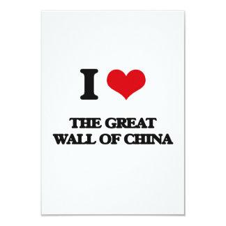 Eu amo o Grande Muralha de China Convite 8.89 X 12.7cm