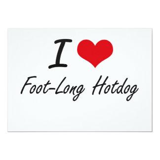 Eu amo o Hotdog dos pés Convite 12.7 X 17.78cm