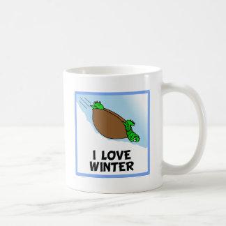 Eu amo o inverno caneca