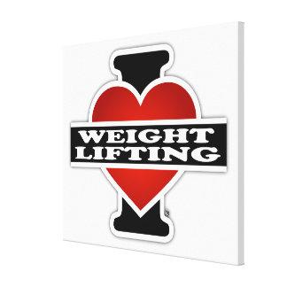 Eu amo o levantamento de peso