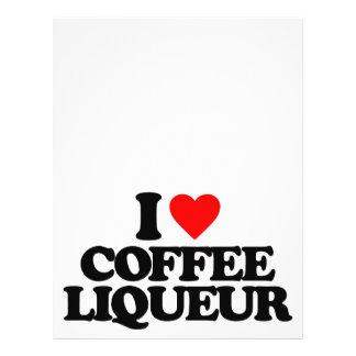 EU AMO O LICOR DE CAFÉ PANFLETOS COLORIDOS