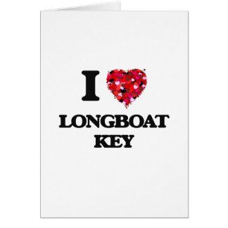 Eu amo o Longboat Florida chave Cartão Comemorativo