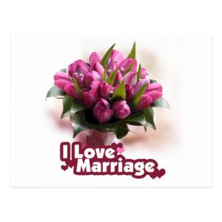 Eu amo o matrimônio do casamento cartão postal