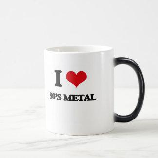 Eu amo o METAL do anos 80 Caneca Transmutação