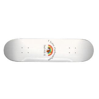 Eu amo o negócio das baratas com ele shape de skate 18,4cm