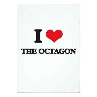 Eu amo o Octagon Convite 12.7 X 17.78cm