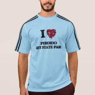 Eu amo o parque estadual chave Florida de Perdido Camisetas