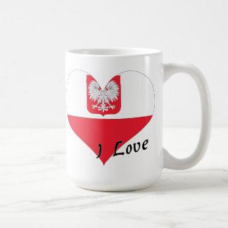 Eu amo o Polônia Caneca De Café