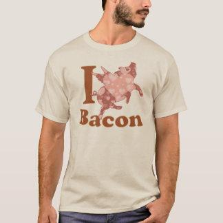 EU AMO o porco do vôo do BACON Camisetas