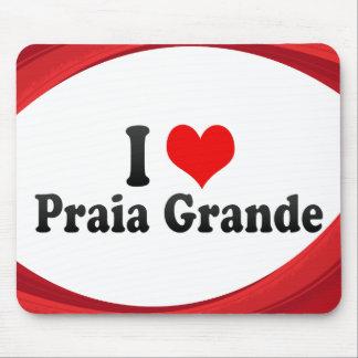 Eu amo o Praia grandioso, Brasil Mouse Pads