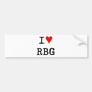 eu amo o rbg adesivo de para-choque