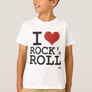 Eu amo o rock and roll camiseta