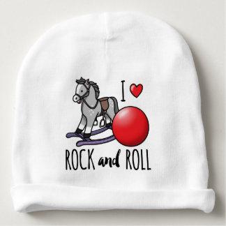 Eu amo o rock and roll gorro para bebê
