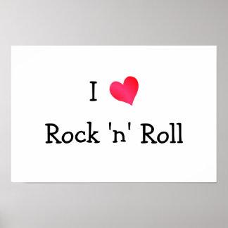 Eu amo o rock and roll pôster