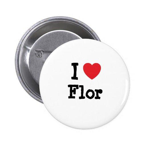 Eu amo o t-shirt do coração de Flor Boton