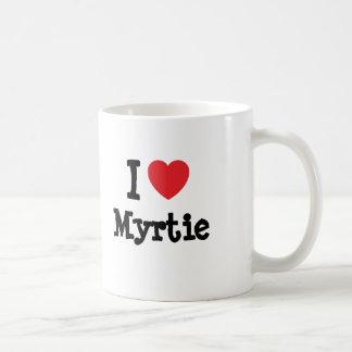 Eu amo o t-shirt do coração de Myrtie Canecas