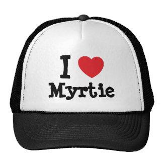 Eu amo o t-shirt do coração de Myrtie Bones