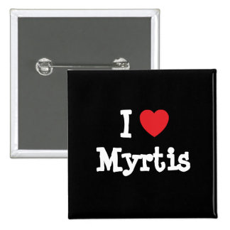 Eu amo o t-shirt do coração de Myrtis Boton