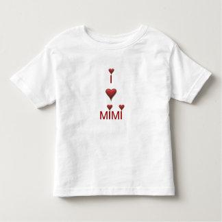 Eu amo o t-shirt do Tshirt da criança MIMI