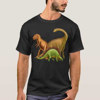 Eu amo o t-shirt escuro adulto dos dinossauros