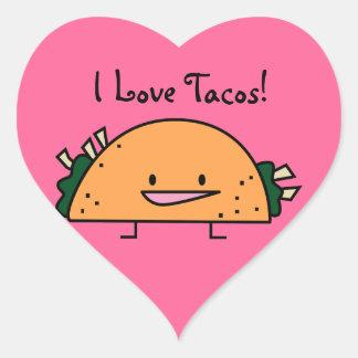 Eu amo o Tacos! etiqueta