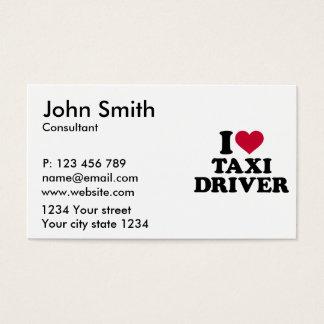 Eu amo o taxista cartão de visitas