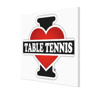 Eu amo o ténis de mesa