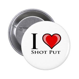 Eu amo o tiro psto botons