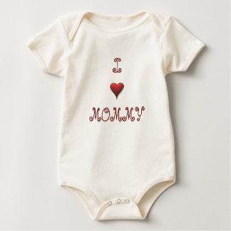 Eu amo o tshirt das mamães para o bebê ou a