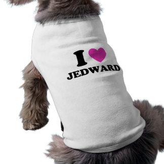 Eu amo o tshirt de Jedward Roupa Para Pets