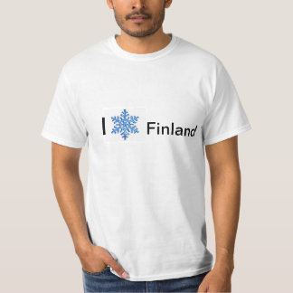 Eu amo o Tshirt dos homens de Finlandia