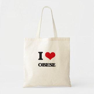 Eu amo obeso bolsas