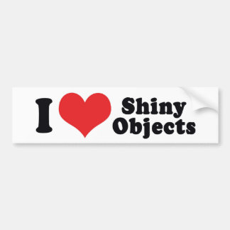 Eu amo objetos brilhantes do coração - jóia de adesivo para carro