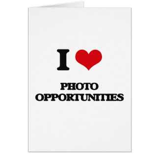 Eu amo oportunidades da foto cartão comemorativo